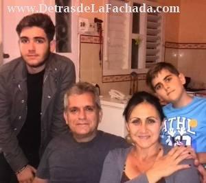 Familia que vive en la casa