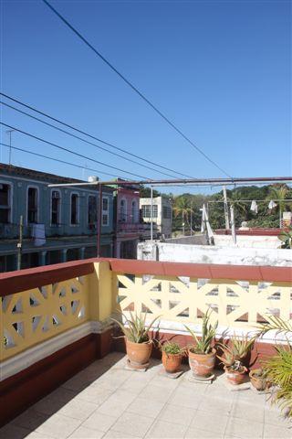 Terraza con  balcón